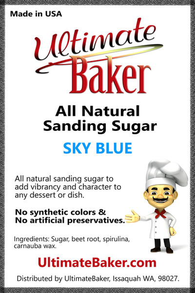 Ultimate Baker Natural Sanding Sugar (Med. Crystals) Sky Blue (1x8lb)