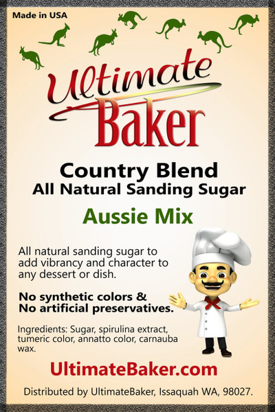 Ultimate Baker Country Blend Sanding Sugar Aussie Mix (1x16lb)