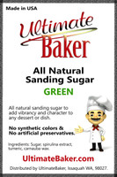 Ultimate Baker Natural Sanding Sugar (Med. Crystals) Green (1x16lb)