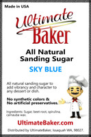 Ultimate Baker Natural Sanding Sugar (Med. Crystals) Sky Blue (1x16lb)