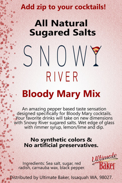 Snowy River Cocktail Sugared Salts Bloody Mary Mix (1x8oz)