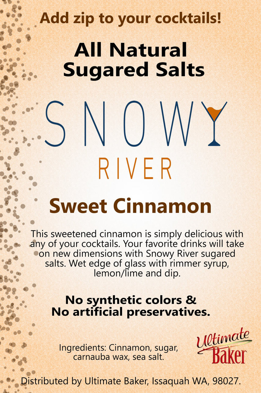 Snowy River Cocktail Sugared Salts Sweet Cinnamon (1x8oz)