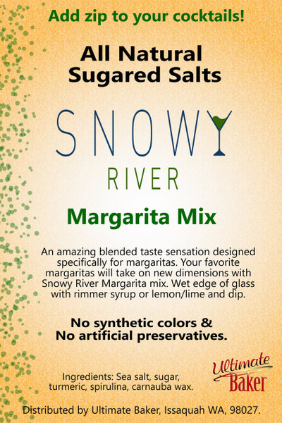 Snowy River Cocktail Sugared Salts Margarita Mix (1x1lb)