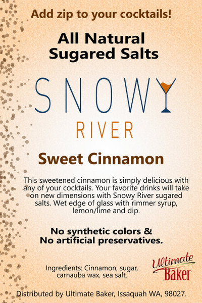 Snowy River Cocktail Sugared Salts Sweet Cinnamon (1x1lb)