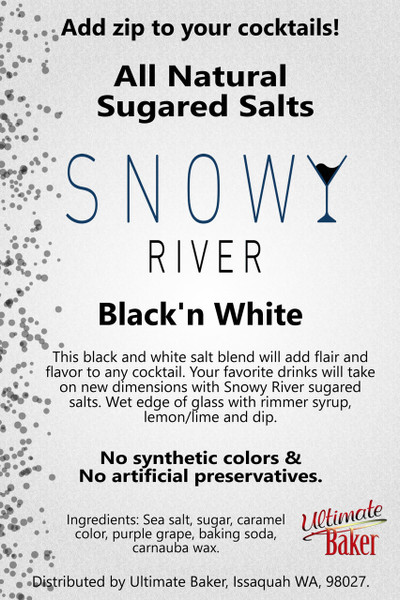 Snowy River Cocktail Sugared Salts Black & White (1x1lb)