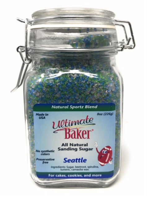 Ultimate Baker Sportz Blend Sanding Sugar Seattle Mix (1x8oz Glass)