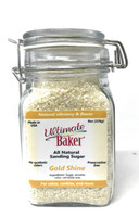 Ultimate Baker Natural Sanding Sugar (Large Crystals) Gold Shine (1x8oz Glass)