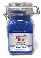 Ultimate Baker Natural Sanding Sugar (Med. Crystals) Royal Blue (1x8oz Glass)