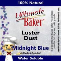 Ultimate Baker Luster Dust Midnight Blue (1x2.5g)