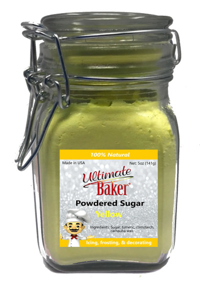 Ultimate Baker Natural Powdered Sugar Yellow (1x5oz Glass)