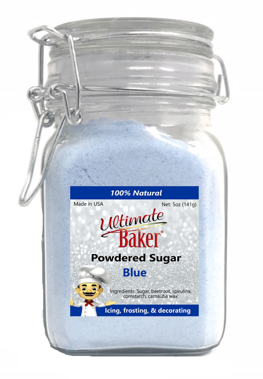 Ultimate Baker Natural Powdered Sugar Blue (1x5oz Glass)