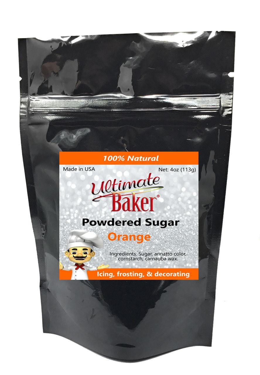 Ultimate Baker Natural Powdered Sugar Orange (1x4oz Bag)