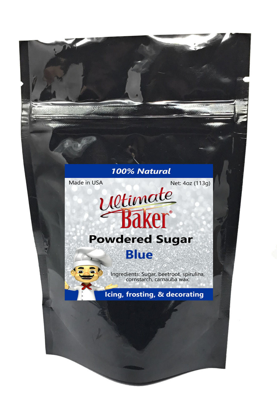 Ultimate Baker Natural Powdered Sugar Blue (1x4oz Bag)