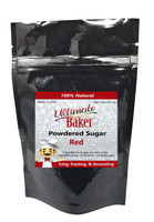 Ultimate Baker Natural Powdered Sugar Red (1x8oz Bag)