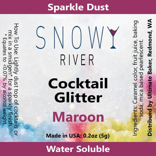 Snowy River Cocktail Glitter Maroon (1x5.0g)