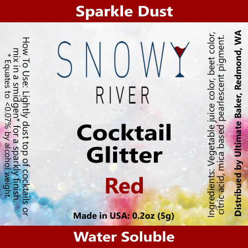 Snowy River Cocktail Glitter Red (1x5.0g)
