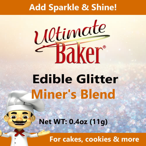 Ultimate Baker Edible Glitter Miner's Blend (1x11g)