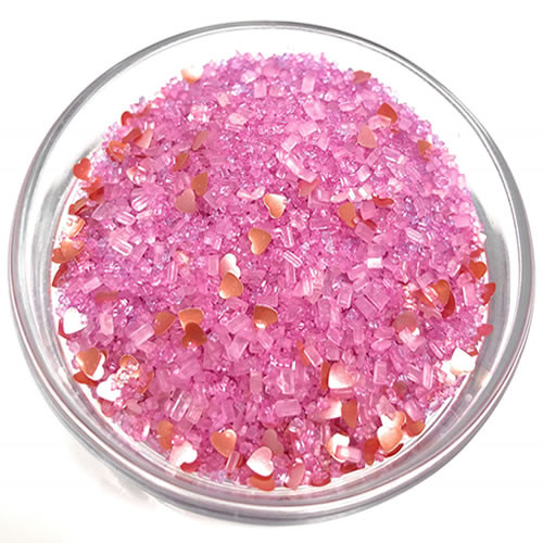 Ultimate Baker Edible Glitter Pink Hearts (1x3oz)