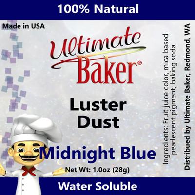 Ultimate Baker Luster Dust Midnight Blue (1x28g)