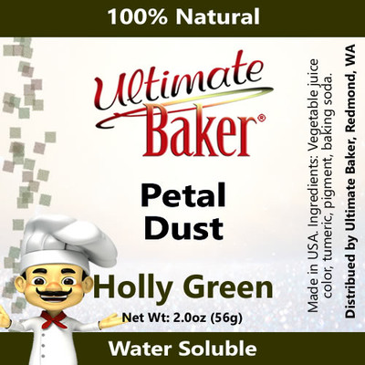 Ultimate Baker Petal Dust Holly Green (1x56g)