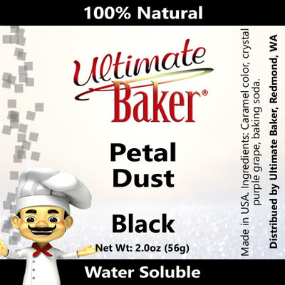 Ultimate Baker Petal Dust Black (1x56g)