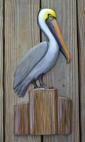 Pelican half sided wall decor