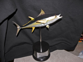 Miniature Yellowfin Tuna fiberglass fish mount replica