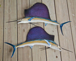 Sailfish 36LR inch half mount fiberglass fish replica