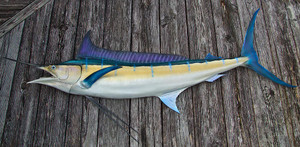 Blue Marlin 74L inch half mount fiberglass fish replica