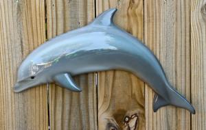 22 inch Porpoise half mount fiberglass replica