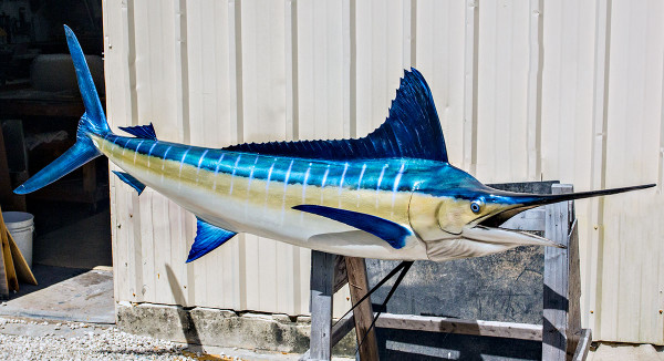 Striped Marlin fiberglass fish replica