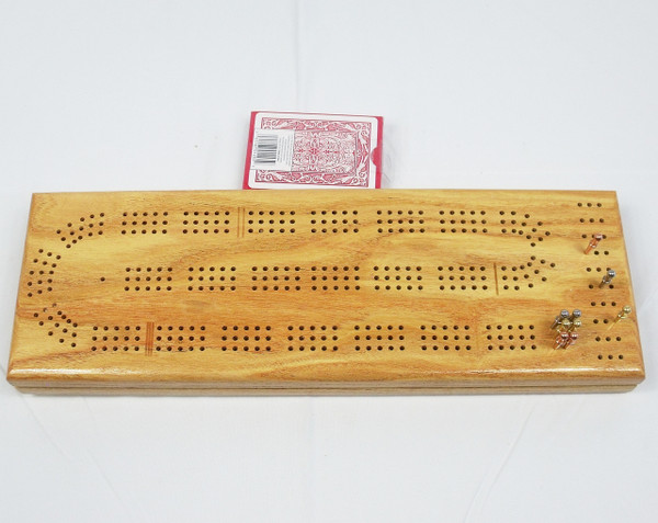 Honey Locust 3 Player Cribbage Board