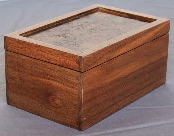 Invisible Hinge Box Walnut Walnut Burl