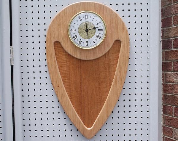 Mahogany large wall clock curly mahogany insert