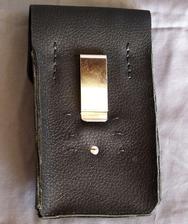 Black Leather Phone Holster