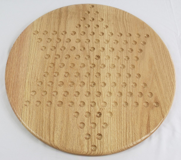 Wooden Chinese Checkers Game Oak