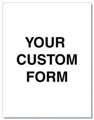 "Custom Form - 8.5"" x 11"""