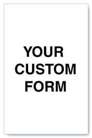 "Custom Form - 8.5"" x 5.5"""