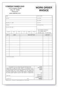 Auto-glass Work Order/Invoice