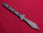 Alabama Damascus Spear Mini Blank / ADS-Mini Spear-DKB