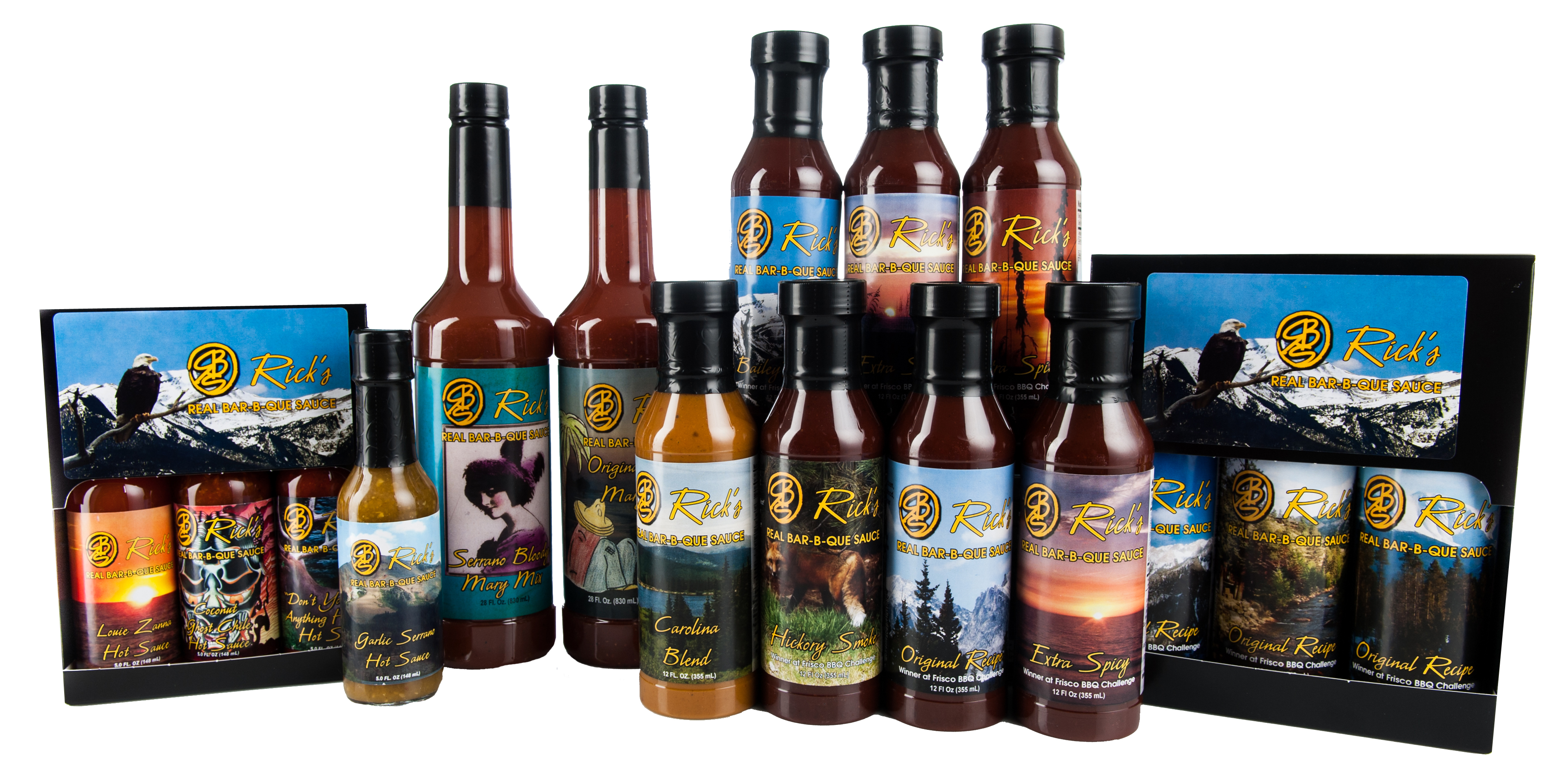 Rick's Real BBQ Sauces, Hot Sauces and Bloody Mary Mixes