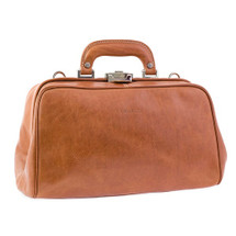 Chiarugi Italian Leather Front Pouch Doctor's Bag - Brown