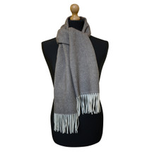 Maalbi Luxury Italian Virgin Wool Herringbone Scarf - Brown