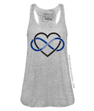 Heart Infinity Blue Lives Matter Top
