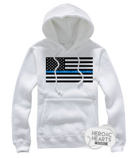 Thin Blue Line American Flag Top