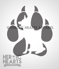 K9 Silhouette Decal