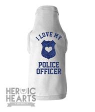 I Love My Police Officer Doggie Tee