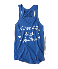 I Love My U.S. Soldier Hearts Shirt