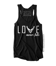 Air Force Love Never Fails Shirt