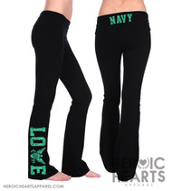 Navy LOVE Yoga Pants